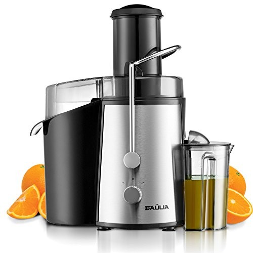 Baulia Jm804 Juicer Machine For Fruit And Vegetables Chute Easy To Assemble Powerful Juice Extractor Large Pulp Container Ideal For Home Or