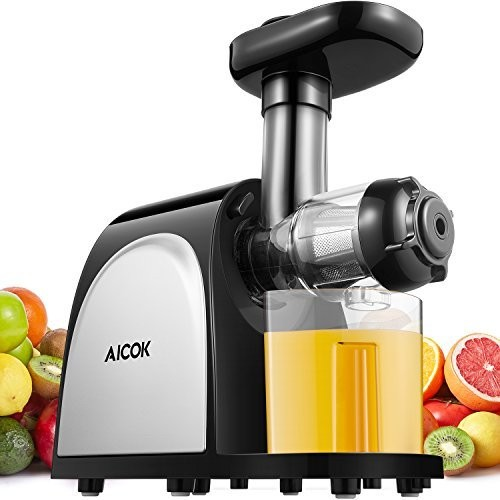 Aicok Juicer Slow Masticating Juice Extractor With Quiet Motor Cold